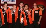 Nederlands jongensteam EK Jeugd 2009 (v.l.n.r: Gilbert van der Meyden, Jeffrey Sparidaans, Jeffrey Stigter, Daniel van Mourik en bondscoach Dennis van Onselen)