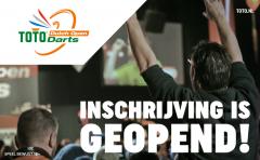 De inschrijving voor de TOTO Dutch Open Darts 2022 is open!